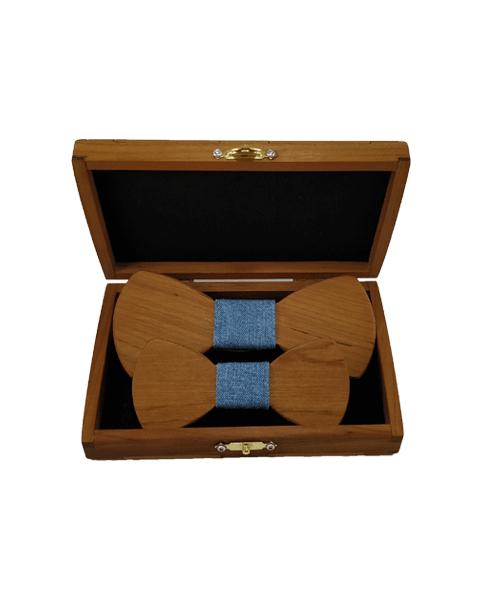 Isänpäivä-paketti Lämpökäsitelty Leppä - Sininen kangas
